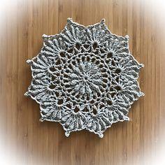 Ravelry: November mandala pattern by Lifestyle By Ella /Elisabeth Laitila Crochet Circles, Crochet Mandala, Mandala Pattern, Crochet Doilies, Crochet Towel, Crochet Dishcloths, Crochet Hooks, Pet Sweaters, Summer Beauty