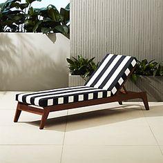 tropez black and white stripe sofa   CB2