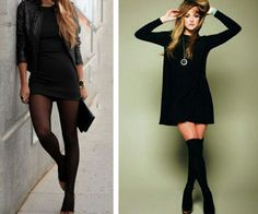 Outfit vestido negro invierno – Vestidos de moda blog de fotos del sitio Uni Outfits, Office Outfits, Dress Outfits, Cool Outfits, Casual Outfits, Fashion Outfits, Fashion Fashion, Fashion Ideas, Vintage Fashion