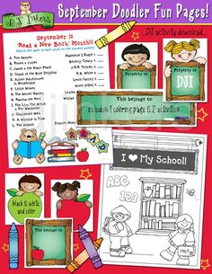 school printables, September activities, school coloring page, school labels