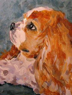 """Puppy Prayers"" - Original Fine Art for Sale - © Susan E Jones"