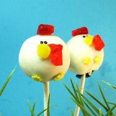 Rooster Cake Pops