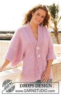 Мир хобби: Жакет из Drops с широкими рукавами (вязание спицам...