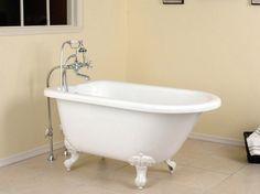 Acrylic Classic Clawfoot Tub - ELLEDecor.com