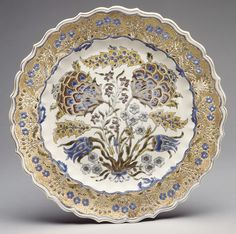Plate Factory: Zsolnay factory Date: ca. 1880 Culture: Hungarian, Pécs Dimensions: Diameter: 12 1/2 in. (31.8 cm)