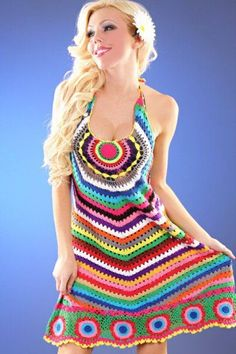 Lindo Verão.Crochet Dress