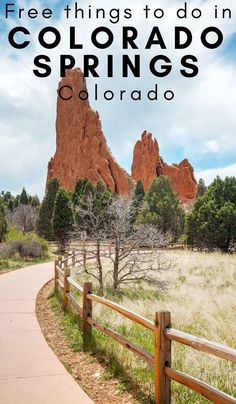 21 Free Things to do in Colorado Springs CO Make sure to make time for these free things to do in Colorado Springs CO. Everything from Pikes Peak to the old west trails, and more. Estes Park Colorado, Denver Colorado, Aspen Colorado, Visit Colorado, Colorado Hiking, Colorado Mountains, Colorado Quotes, Fraser Colorado, Breckenridge Colorado