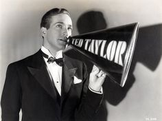 David Manners in a publicity still from Crooner, 1932, WB/First National Pictures. Directed by Lloyd Bacon.
