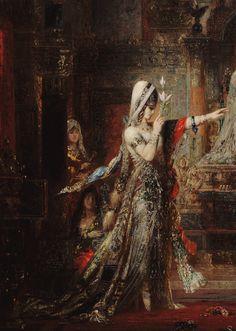 sakrogoat:  Gustave Moreau - Salome Dancing before Herod (detail)