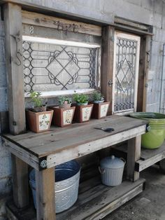 My potting bench....love!