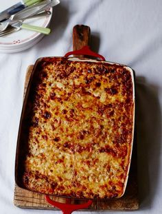 Gluten-free beef lasagne | Jamie Oliver | Food | Jamie Oliver (UK) - modify to use roast chicken to make a gf version of Il Mercato's lasagna that I miss so much