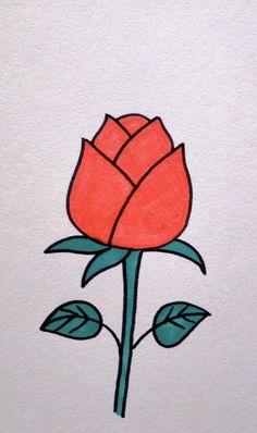 Easy Doodles Drawings, Art Drawings For Kids, Art Drawings Sketches Simple, Pencil Art Drawings, Colorful Drawings, Hand Art Kids, Flower Line Drawings, Art Painting Gallery, Diy Canvas Art