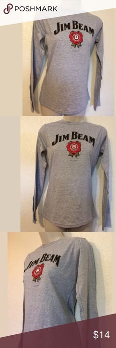 Jim Beam Women's Long Sleeve Crewneck Tee medium Jim Beam Whiskey Women's Long Sleeve Crewneck Tee Medium, t shirt brand: Gildan soft style 90% cotton 10% polyester new without Tags, mint condition never worn jim beam Tops Tees - Long Sleeve