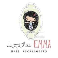Premade Logo Design Baby Girl Clothing Hair Extensions Accessories Birthday Invite Logo Custom Business Card Branding Shower Sign PL203