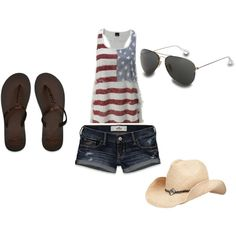 great summer outfit...minus the hat. id have to replace it with my camo hat