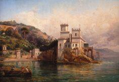 GIGANTE ERCOLE (1815-1860)  Castello di San Nicola ad Amalfi, 1854. http://www.wannenesgroup.com/lotto.php?type=1&id_asta=178&perpage=24&page=1&id_lotto=22528#sthash.bhilnZUm.dpuf