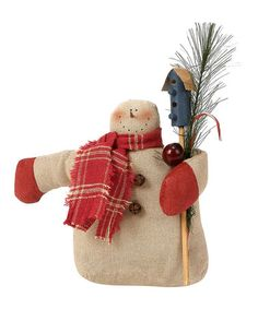Take a look at this Cream & Red Birdhouse Snowman Figurine by Collins Christmas on #zulily today!
