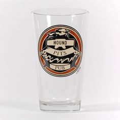 Hound Pits Pint Glass