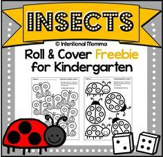 Free Printable Kindergarten Dice Worksheets!