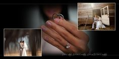 The Brian Gavin Engagement Ring and Wedding Bands