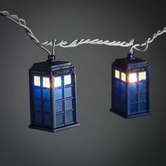 Party like a Timelord with these Doctor Who TARDIS String Lights. They are perfect for any occasion, especially parties where you are watching a Doctor Who marathon.                                                                                                                                                                                 More