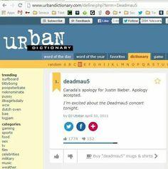Deadmau5,  Canada's apology for Bieber