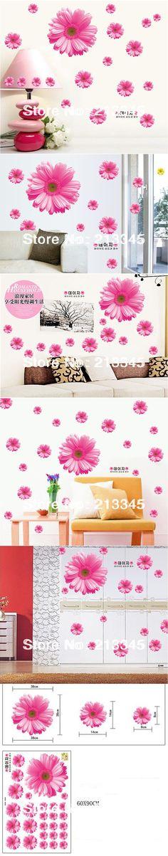 New Warm Romantic Purple Tulip Flower Wall Stickers DIY Living Room ...