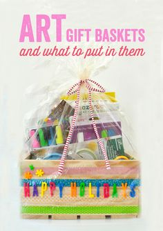 DIY Art Gift Baskets and What to Put in Them - My favorite art supply list!
