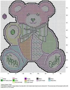 """""""HAPPY EASTER!"""" BEAR by LISSA MITCHELL - WALL HANGING"""