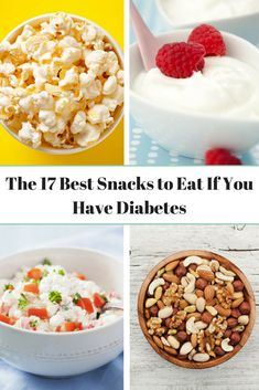 How do you choose a snack that will level out your blood sugar and keep you feeling satisfied until your next meal? Here's exactly what to keep in mind (and the best snacks to consider!) when you're reaching for that midday pick-me-up. Healthy Recipes For Diabetics, Diabetic Snacks, Healthy Dinner Recipes, Cure Diabetes Naturally, Healthy Shakes, Healthy Baking, Healthy Snacka, Best Diets, Blood Sugar