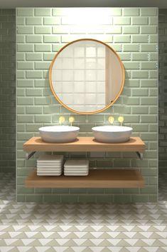 Simple Bathroom, Modern Bathroom Design, Dream Home Design, House Design, Boy Bath, Storage Cabinets, Bathroom Inspiration, Feng Shui, Office Decor
