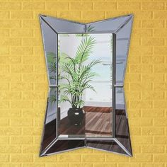 """Artistic Products Breeze Point Wall Mirror Size: 36"""" H x 24"""" W x 0.5"""" D"""
