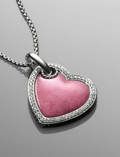 Rhodonite Cable Heart Necklace | Collections Women Women's Tags | David Yurman Official Store