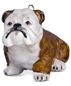 Joy to the World Pet Ornament, Brown and White Bulldog - All Christmas Ornaments - Holiday Lane - Macy's
