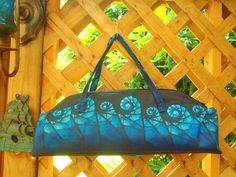 Stained Glass fabric sewn into purse by Kath G.
