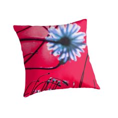 Red Dream Flowers - Pillow by vampyba