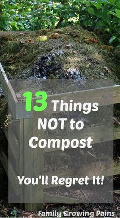 A compost bin is necessary for vegetable gardening and growing your own food. Even homesteaders with small scale farms can have a compost! Composts add vital nutrients back into your soil, increasing your harvest, but you don't want to put these 13 things Diy Garden, Garden Soil, Herb Garden, Garden Landscaping, Cedar Garden, Landscaping Ideas, Garden Boxes, Garden Seeds, Garden Art