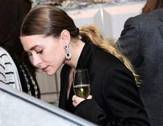 Ashley at a jewellery store opening at Bergdorf Goodman on December 15 (via olsensobsessive.com)