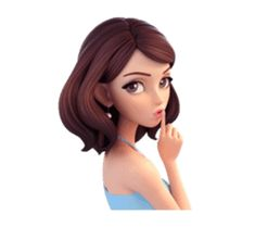 Summer by Yinxuan Li Dezarmenien sticker Photo To Cartoon, Cute Cartoon Pictures, Cute Cartoon Drawings, Girl Cartoon, Girly M, Cute Cartoon Characters, Girly Attitude Quotes, Cartoons Love, Cute Girl Drawing