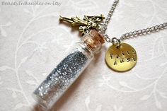 Bottle Necklace Fairy Necklace Charm Necklace by BeautyInBaubles