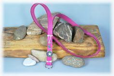 Schlüsselbänder - LederSchlüsselband pink + Stern - ein Designerstück von DaiSign bei DaWanda