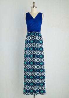 Adore County Dress in Geometric. Upon your return to Door County, youre glad to see that it enchants all the same as you explore in this comfy maxi dress. #multi #modcloth