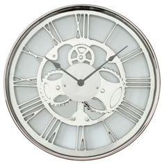 #zgallerie - Metal Gear Clock, $149.95.  This clock would add a touch of masculinity to the room.
