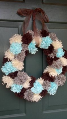 Pom pom Wreath i made :)