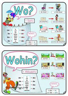 Case – Cases – Alternate Prepositions – Choice Prepositions – Dative – Accusative rnrnSource by DuitsHENL Study German, German English, Learn German, Learn French, German Grammar, German Words, Akkusativ Deutsch, German Resources, Deutsch Language