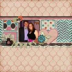 All Dressed Up 2012 layout by Lady Phillippa | Pixel Scrapper digital scrapbooking