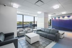 PHOTO TOUR: Shriners Hospital for Children, Montreal, Quebec | Healthcare Design --- A stop at the third-floor surgery department is designed to replicate a visit to the Great North. Waiting families and patients are surrounded by giant snowflakes, blocks of ice, and the aroura borealis. Photo: David Dworkind