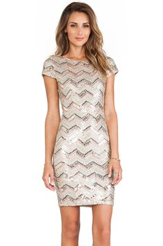 Alice and Olivia sequin cap sleeve dress #REVOLVEclothing