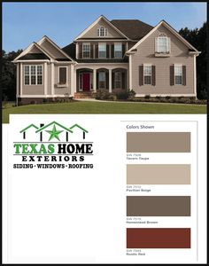 Red House Painted With Sherwin Williams Exterior Paint Image