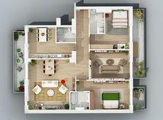 Bildergebnis für 3d floor plan apartment